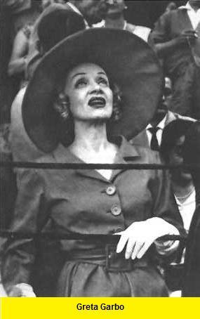 Greta Garbo    en los toros