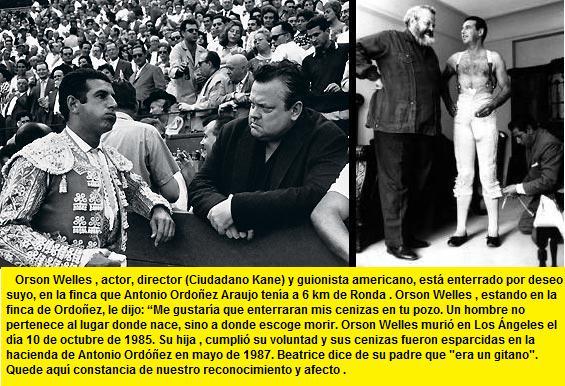 Orson Welles con su amigo Ordoñez