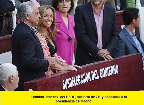 Trinidad Jimenez del  ministra del PSOE